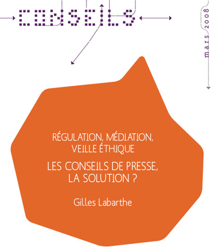 Les conseils de presse, régulation, médiaiton, veille éthique